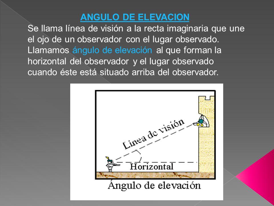 ANGULO DE ELEVACION