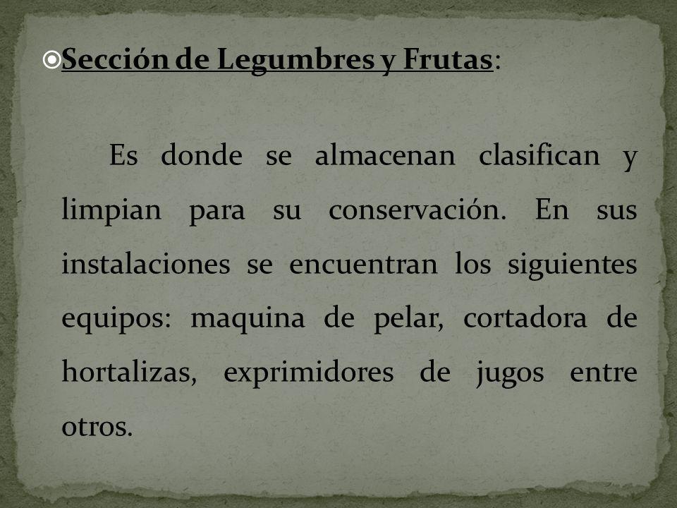 Sección de Legumbres y Frutas:
