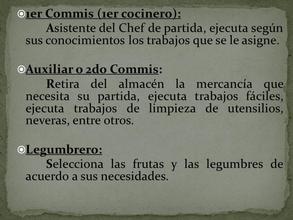 1er Commis (1er cocinero):