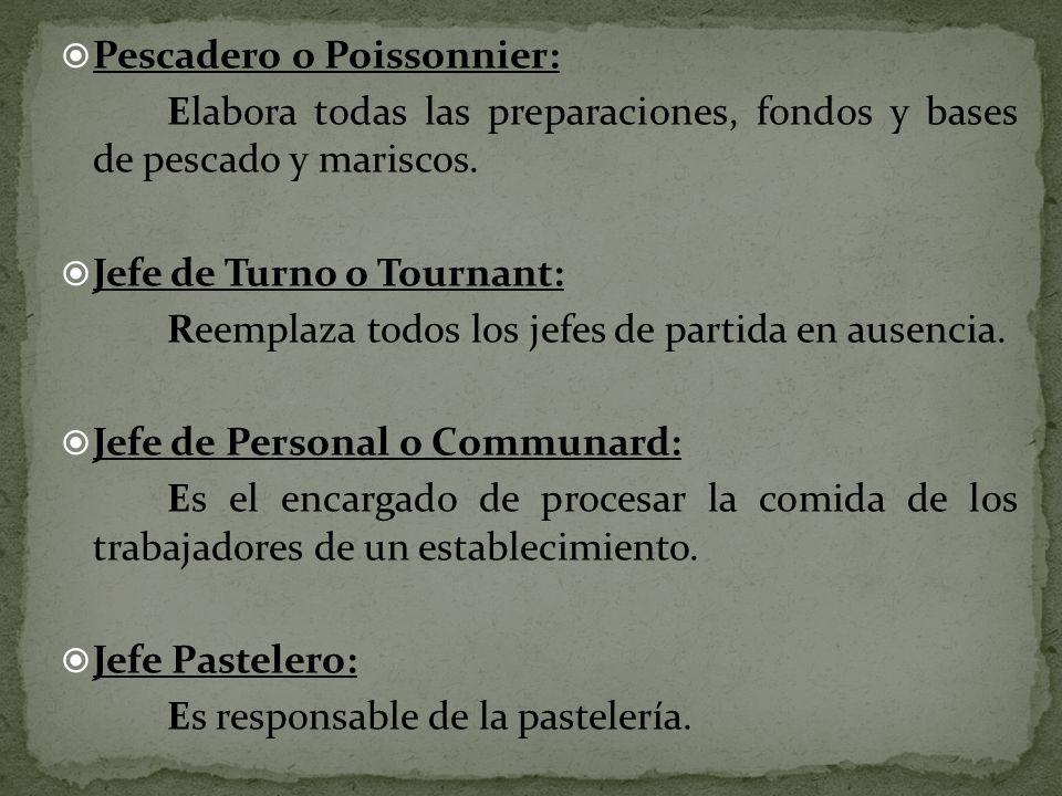 Pescadero o Poissonnier:
