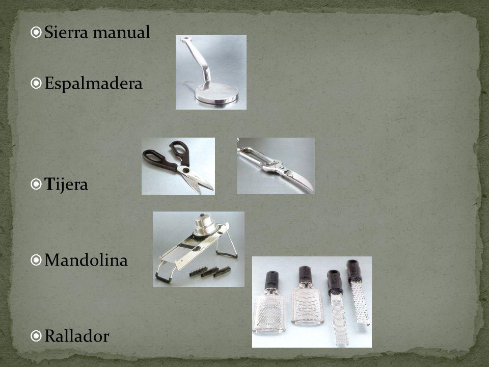 Sierra manual Espalmadera Tijera Mandolina Rallador