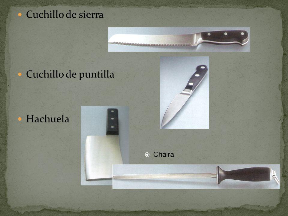 Cuchillo de sierra Cuchillo de puntilla Hachuela Chaira