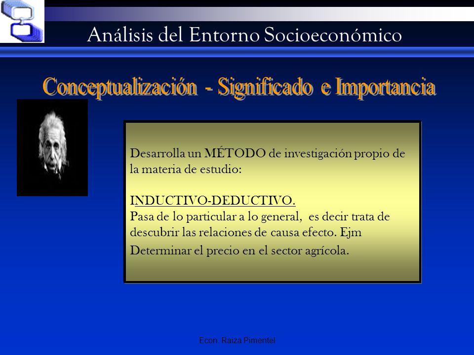 Análisis del Entorno Socioeconómico