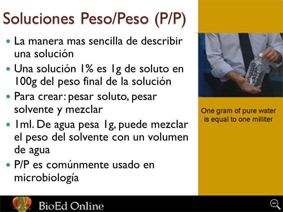 Soluciones Peso/Peso (P/P)