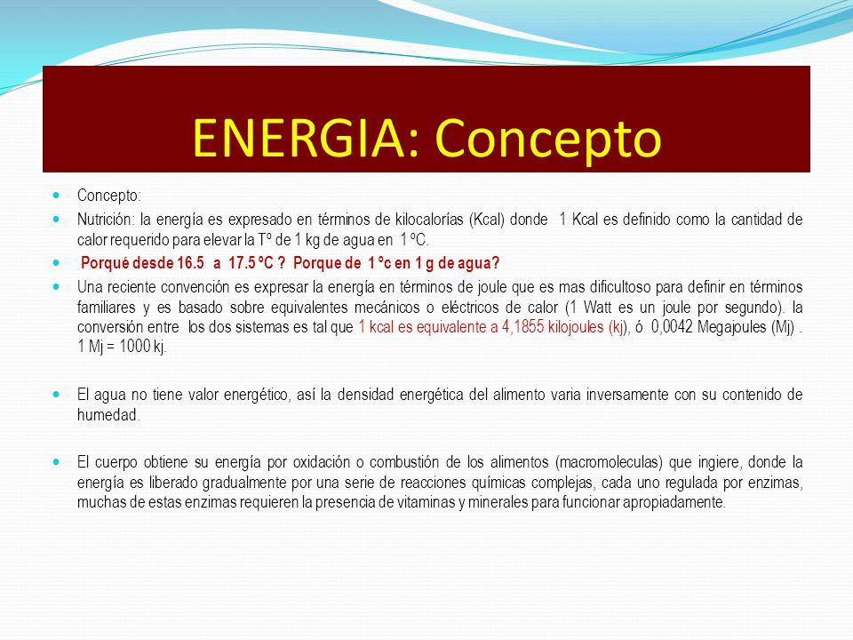 ENERGIA: Concepto Concepto: