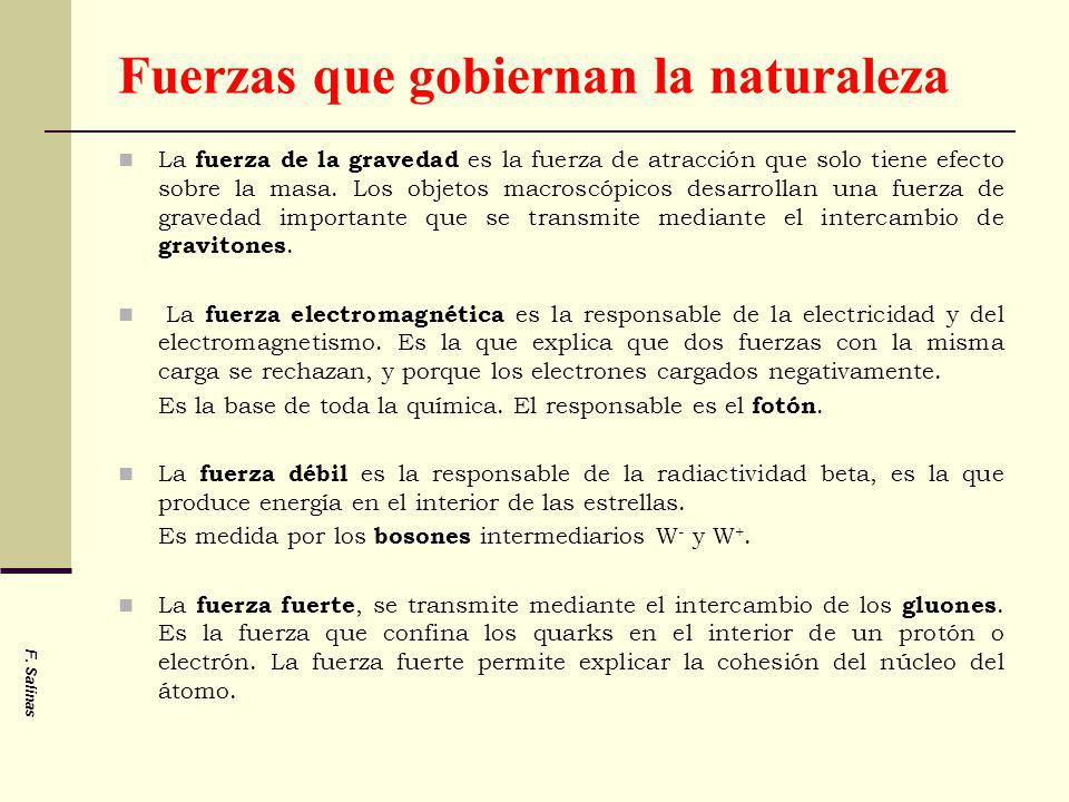Fuerzas que gobiernan la naturaleza