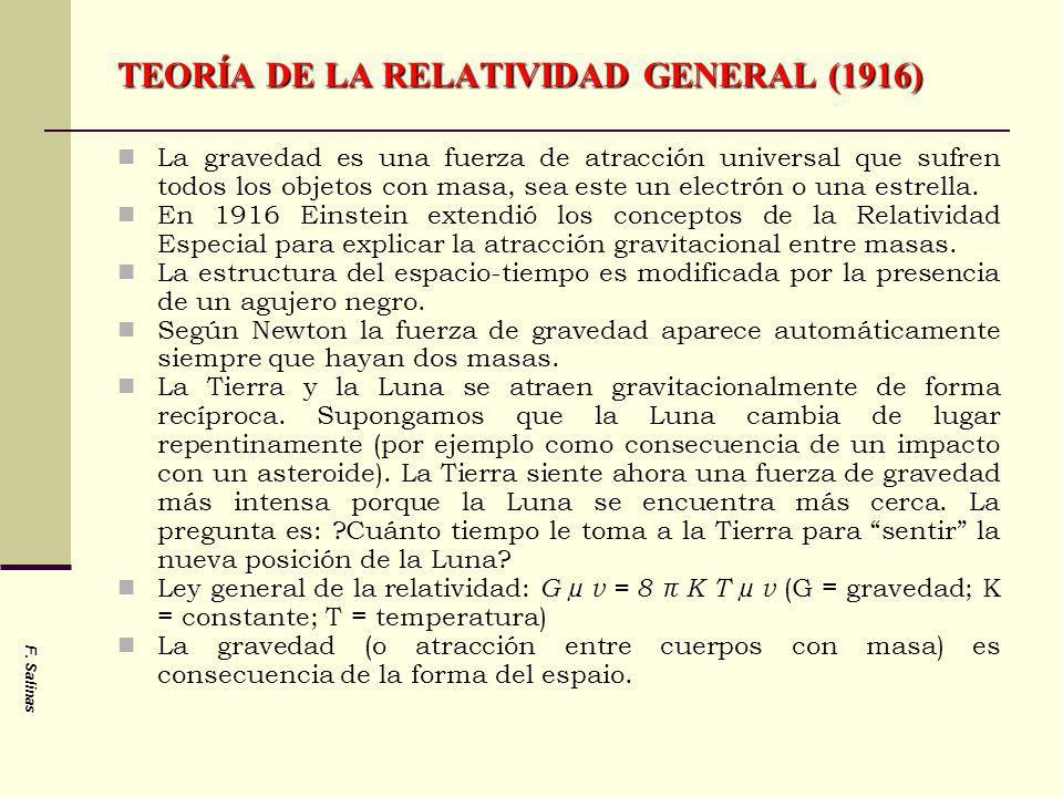 TEORÍA DE LA RELATIVIDAD GENERAL (1916)