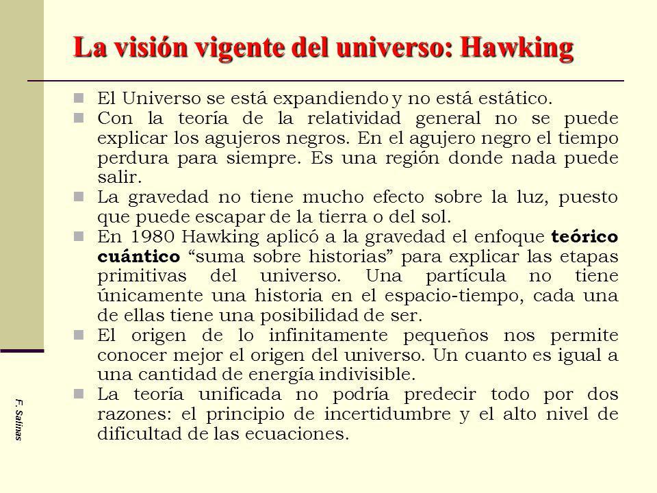 La visión vigente del universo: Hawking