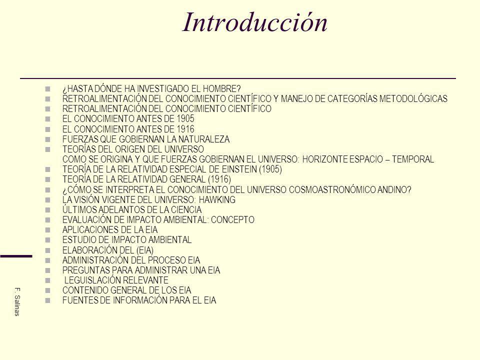 Introducción ¿HASTA DÓNDE HA INVESTIGADO EL HOMBRE