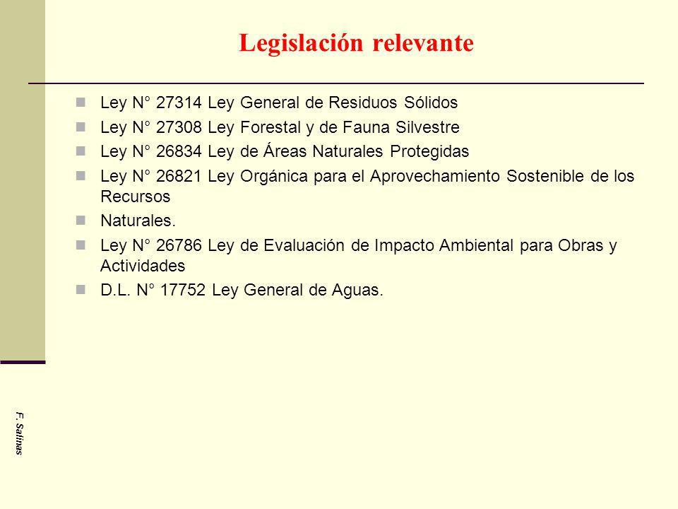 Legislación relevante