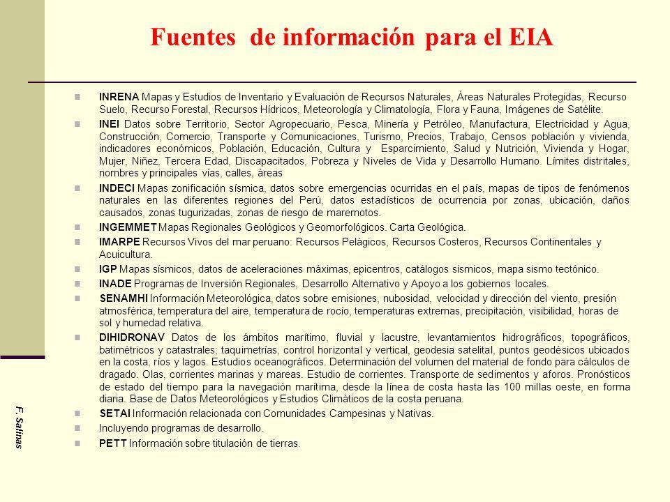 Fuentes de información para el EIA