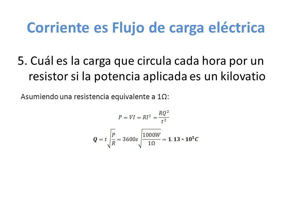 Corriente es Flujo de carga eléctrica