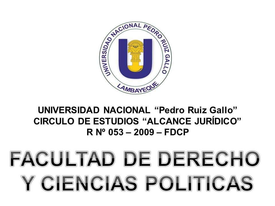 FACULTAD DE DERECHO Y CIENCIAS POLITICAS