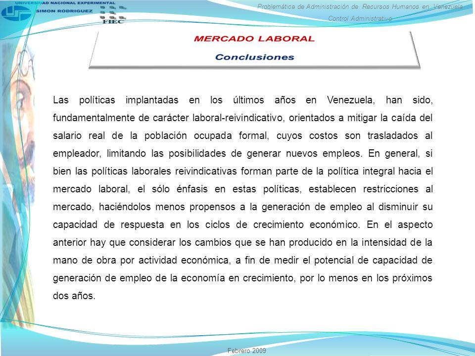 MERCADO LABORAL Conclusiones