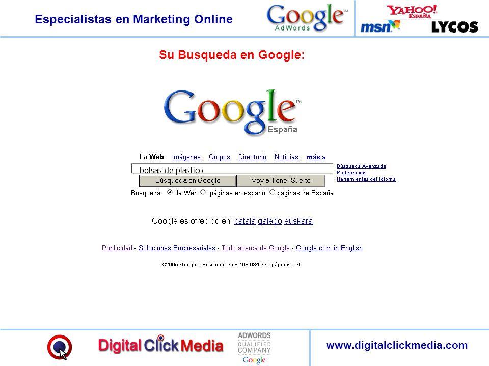 Su Busqueda en Google: bolsas de plastico