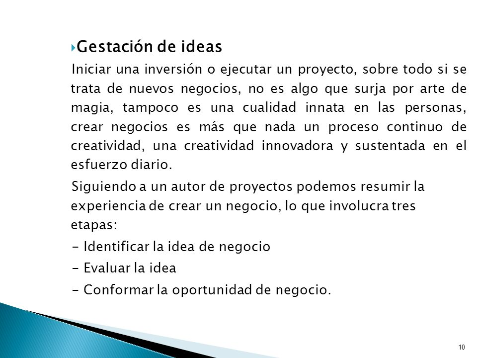 Gestación de ideas