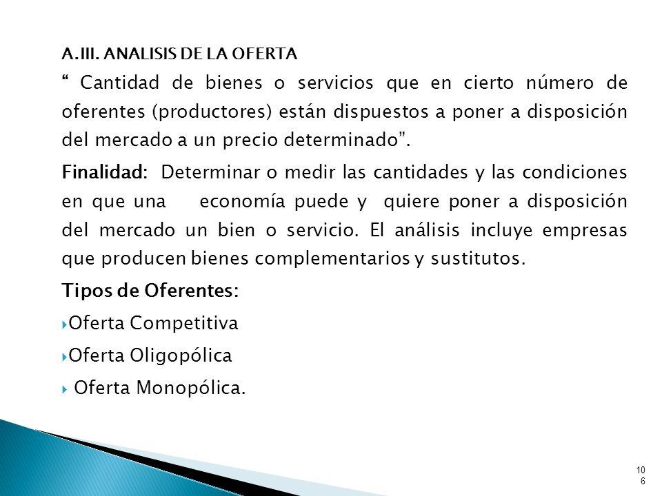A.III. ANALISIS DE LA OFERTA