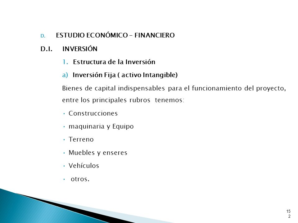 ESTUDIO ECONÓMICO – FINANCIERO