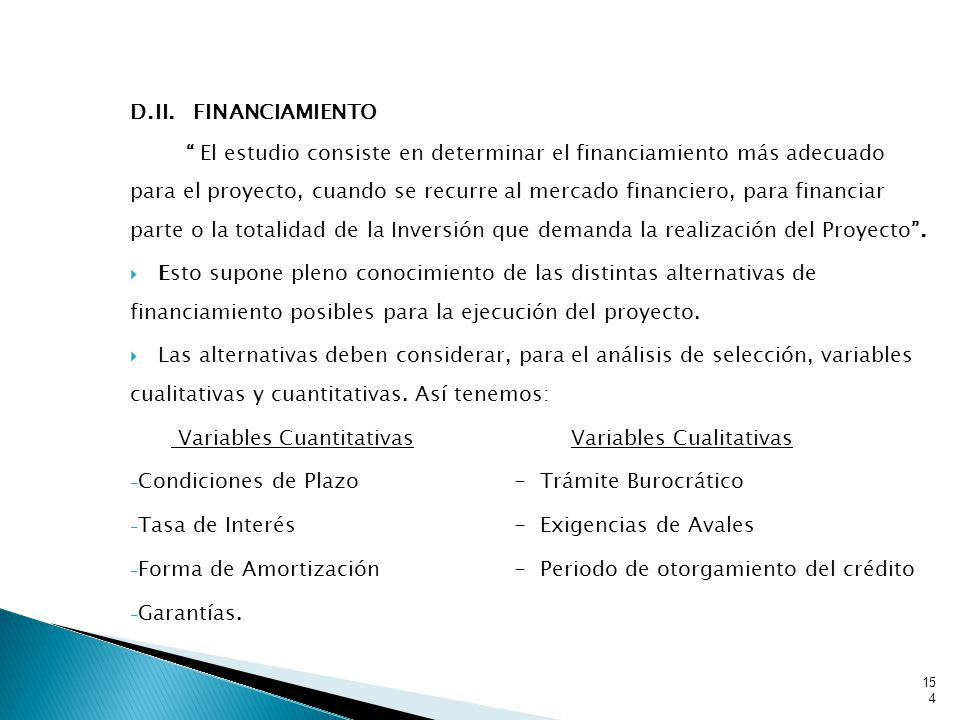 D.II. FINANCIAMIENTO