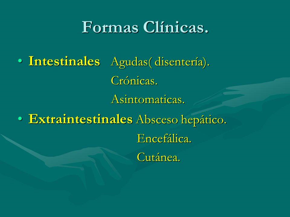 Formas Clínicas. Intestinales Agudas( disentería).