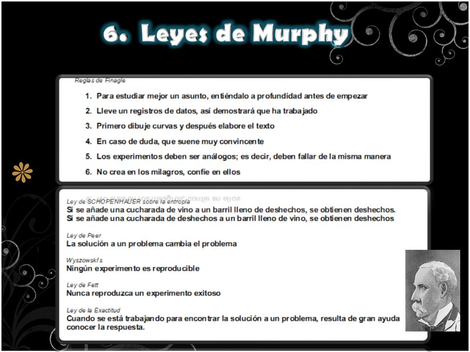 6. Leyes de Murphy