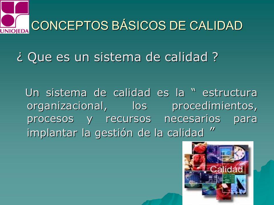 CONCEPTOS BÁSICOS DE CALIDAD