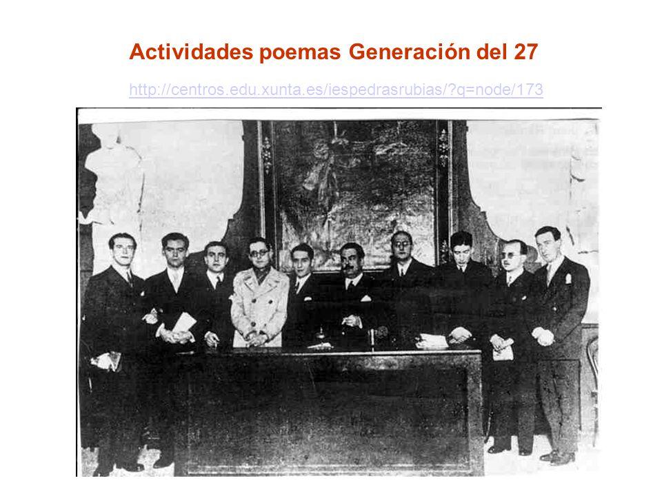 Actividades poemas Generación del 27