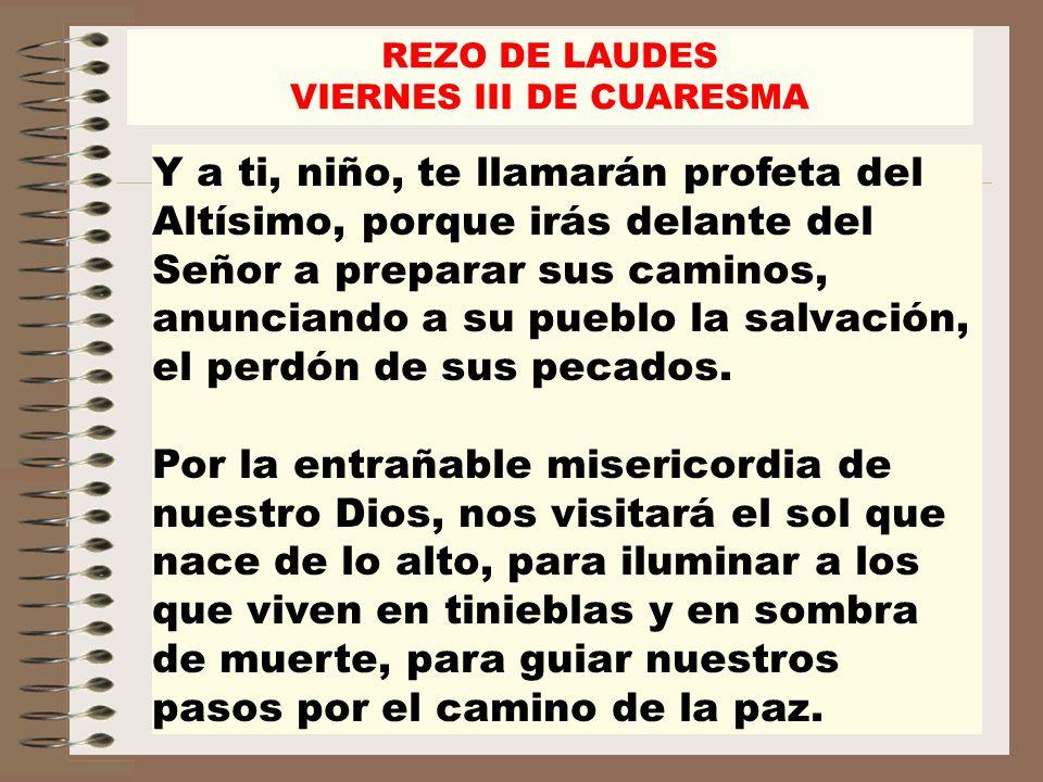 VIERNES III DE CUARESMA