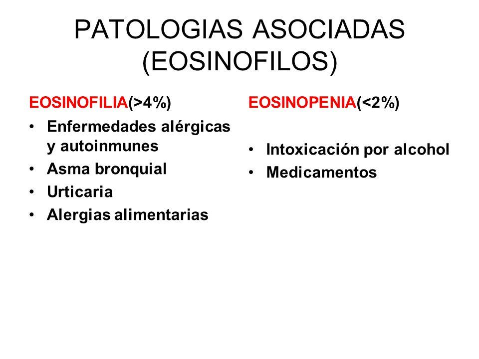 PATOLOGIAS ASOCIADAS (EOSINOFILOS)