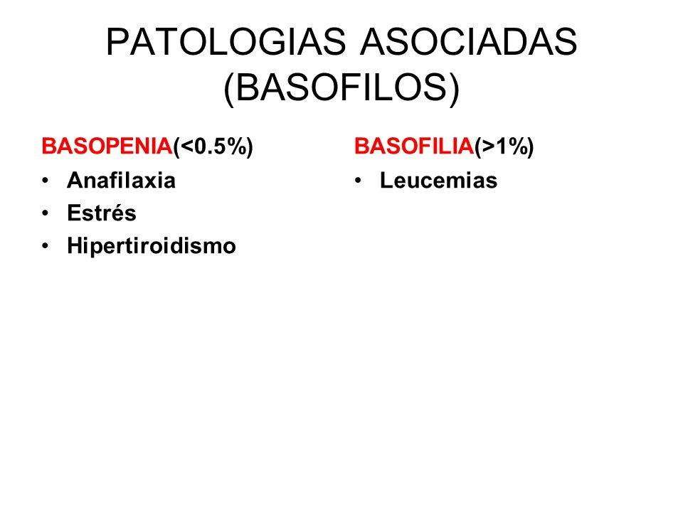 PATOLOGIAS ASOCIADAS (BASOFILOS)