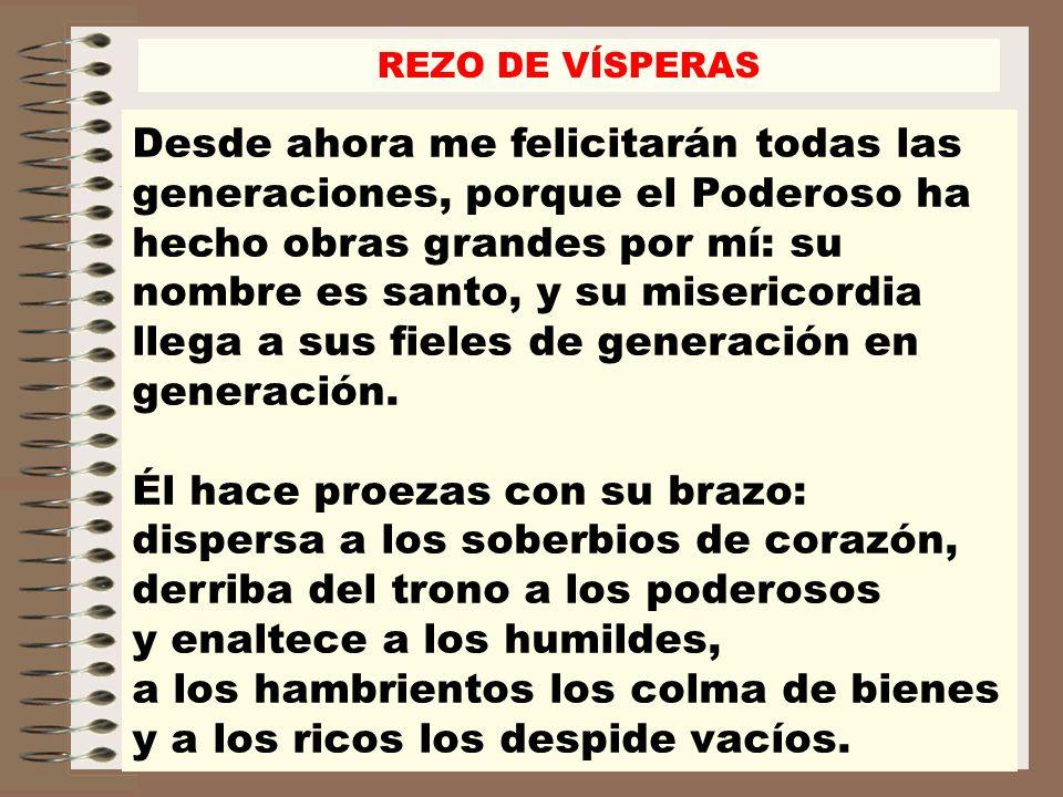 REZO DE VÍSPERAS