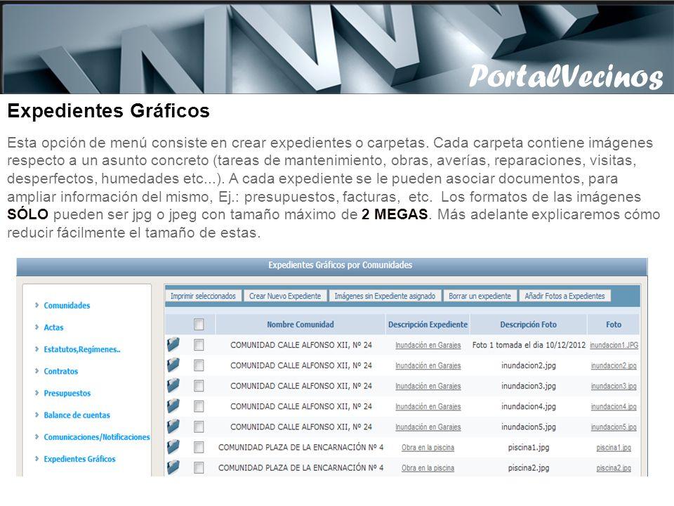PortalVecinos PortalVecinos Expedientes Gráficos