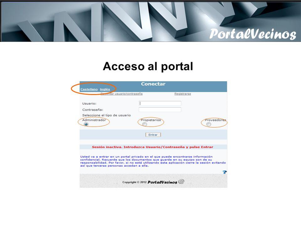 PortalVecinos Acceso al portal
