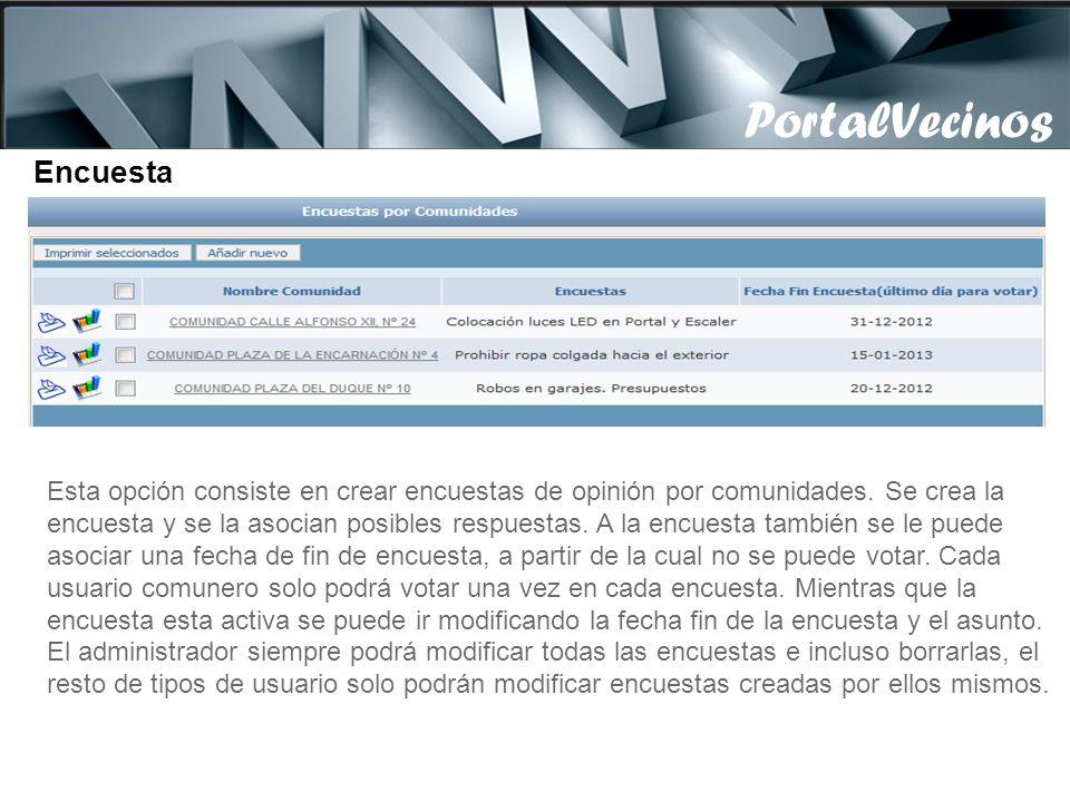 PortalVecinos PortalVecinos Encuestas