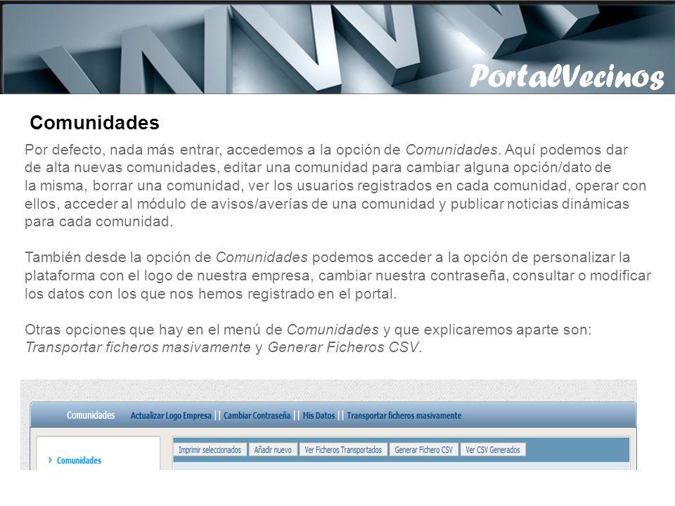PortalVecinos PortalVecinos Comunidades