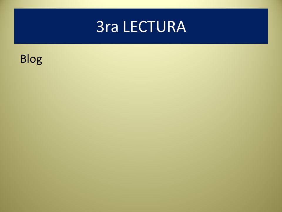 3ra LECTURA Blog