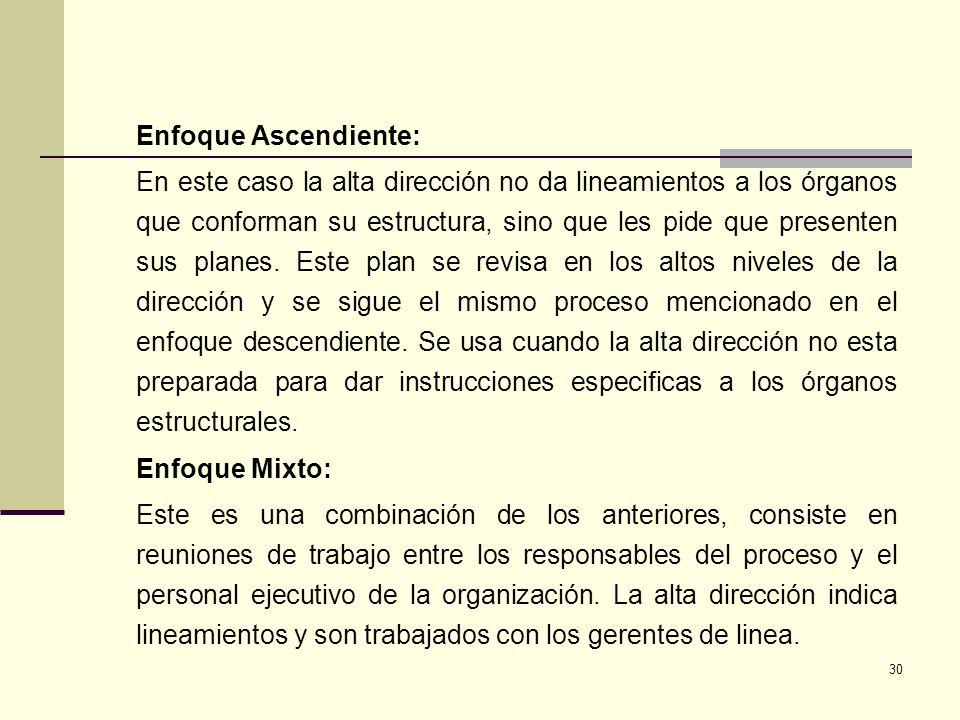 Enfoque Ascendiente: