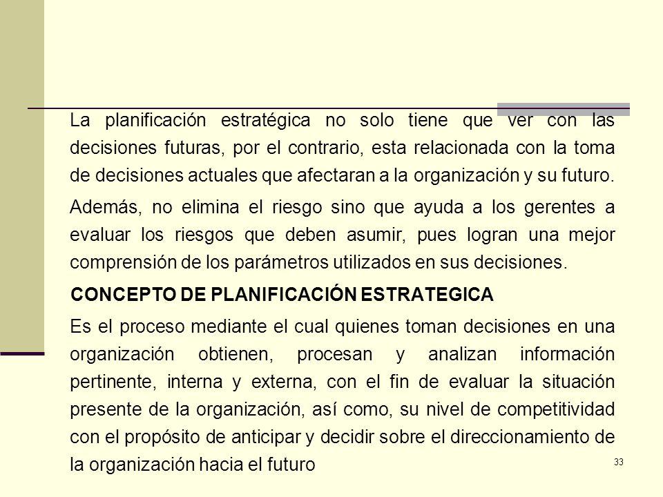 CONCEPTO DE PLANIFICACIÓN ESTRATEGICA