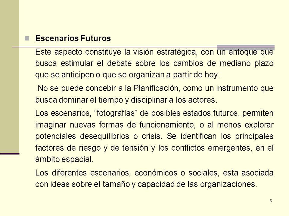 Escenarios Futuros