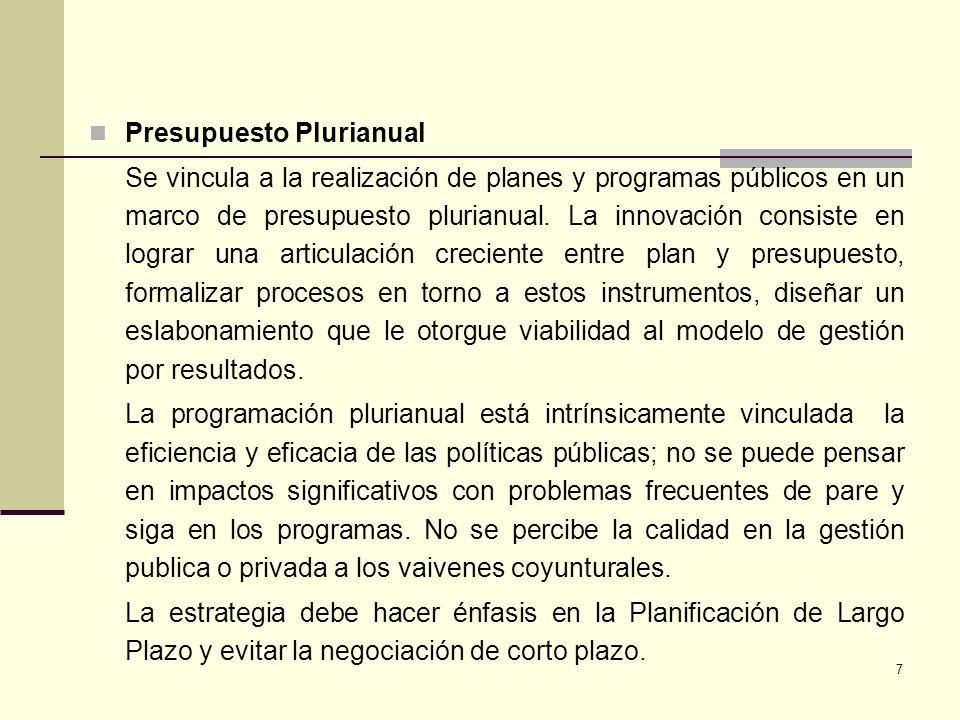 Presupuesto Plurianual