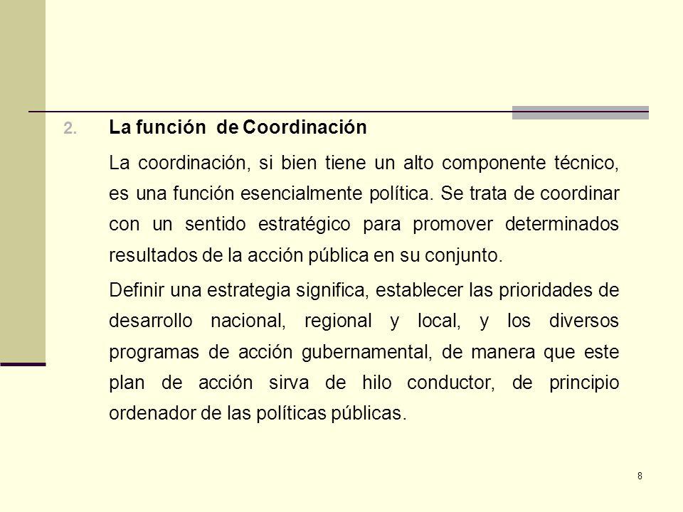 La función de Coordinación