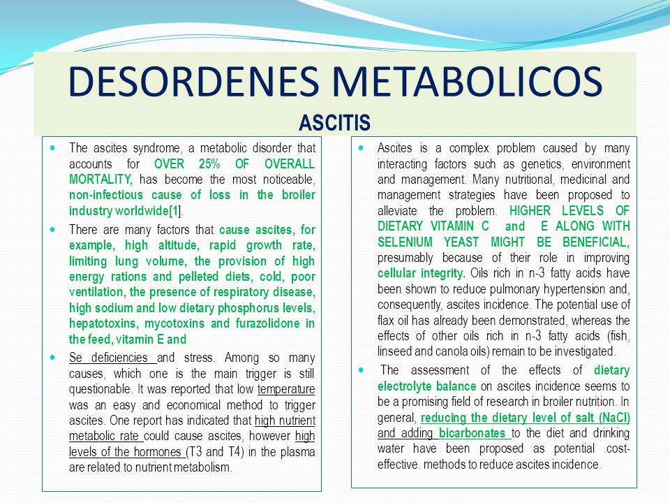 DESORDENES METABOLICOS ASCITIS