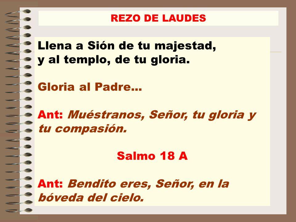 Ant: Muéstranos, Señor, tu gloria y tu compasión.