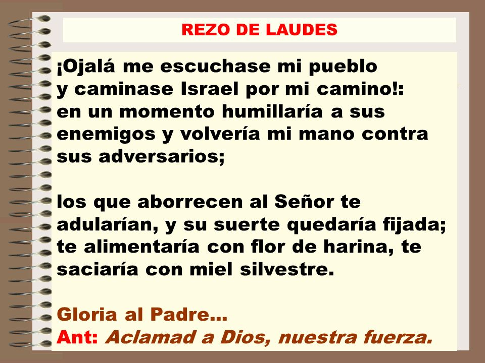 Ant: Aclamad a Dios, nuestra fuerza.