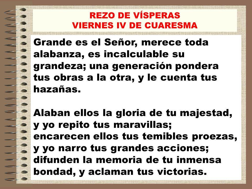 REZO DE VÍSPERAS VIERNES IV DE CUARESMA.