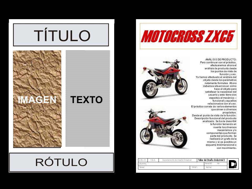 MOTOCROSS ZXC5 IMAGEN TEXTO ANÁLISIS DE PRODUCTO: