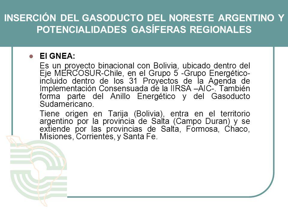 INSERCIÓN DEL GASODUCTO DEL NORESTE ARGENTINO Y POTENCIALIDADES GASÍFERAS REGIONALES
