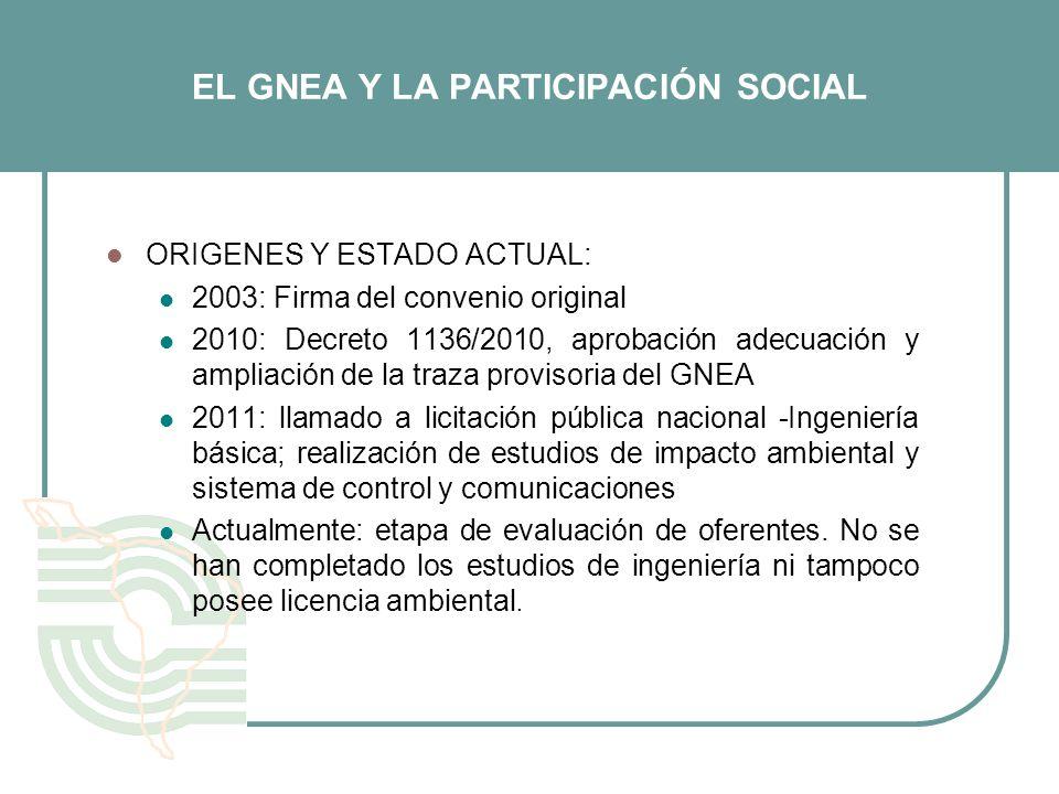 EL GNEA Y LA PARTICIPACIÓN SOCIAL