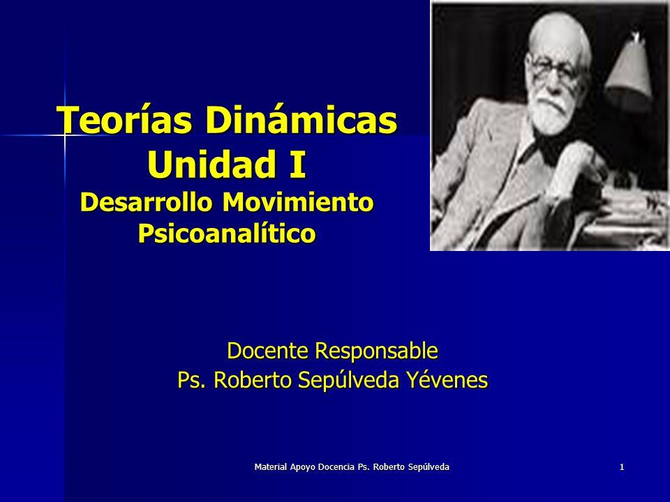 Teorías Dinámicas Unidad I Desarrollo Movimiento Psicoanalítico
