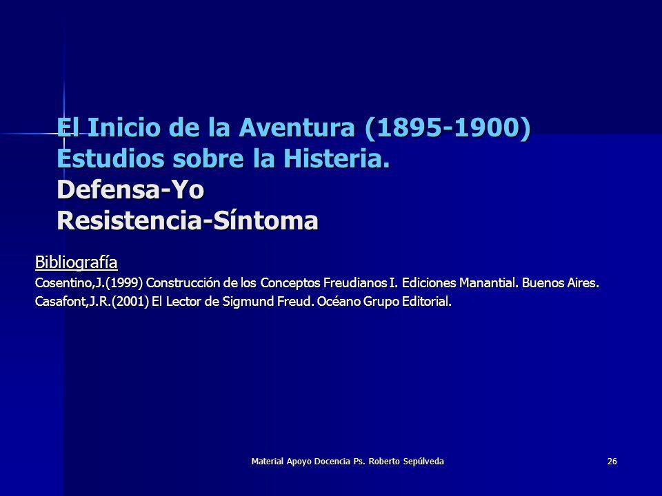 Material Apoyo Docencia Ps. Roberto Sepúlveda